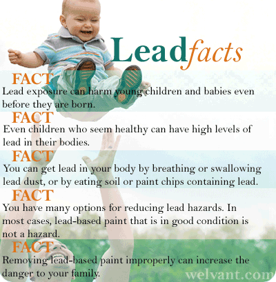 Facts about lead and lead poisoning: Handy chart
